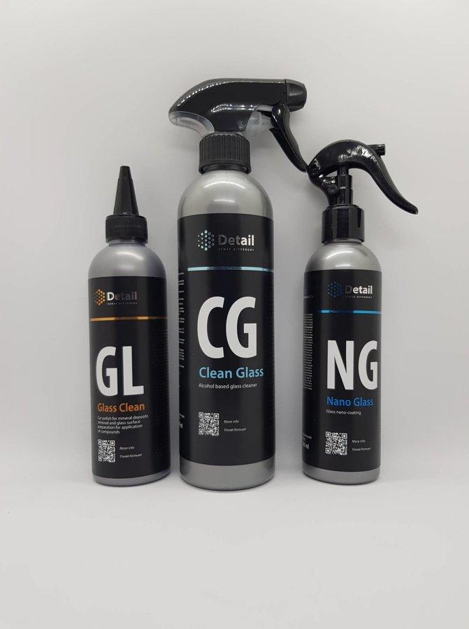 GL (Stiklo polirolis) + CG (stiklo valiklis) + NG (Hidrofobinė danga stiklams)
