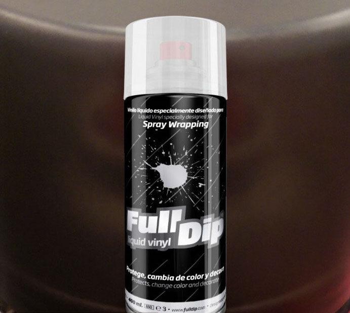 Juodi Matiniai Žibintų Tamsinimo Dažai BLACK SMOKE (Full Dip® 400ml)