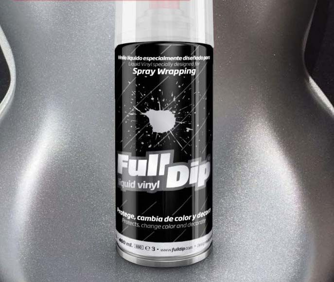 Hyper Sidabriniai Metališki Dažai HYPER SILVER METALLIC (Full Dip® 400ml)