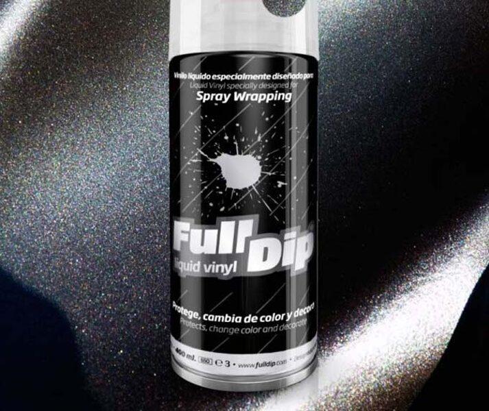 Juodi Metališki Dažai BLACK METALLIC (Full Dip® 400ml)