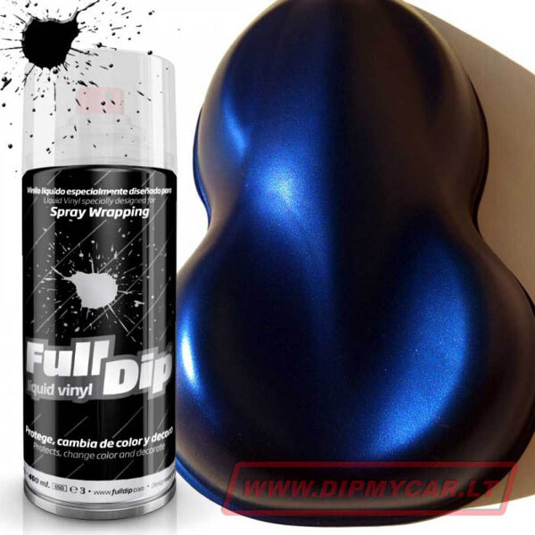 Mėlyni Elektriniai Kandy Perlo Dažai ELECTRIC BLUE CANDY PEARL (Full Dip® 400ml)