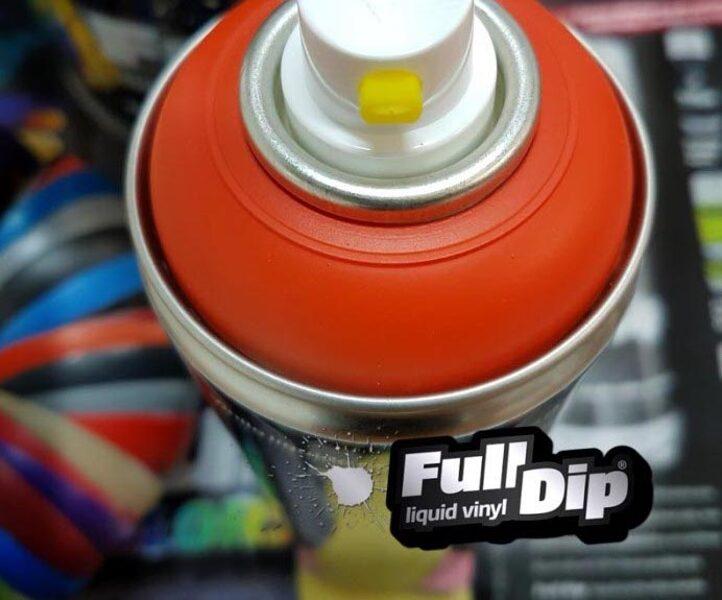 Oranžiniai Matiniai Dažai ORANGE MATTE (Full Dip® 400ml)