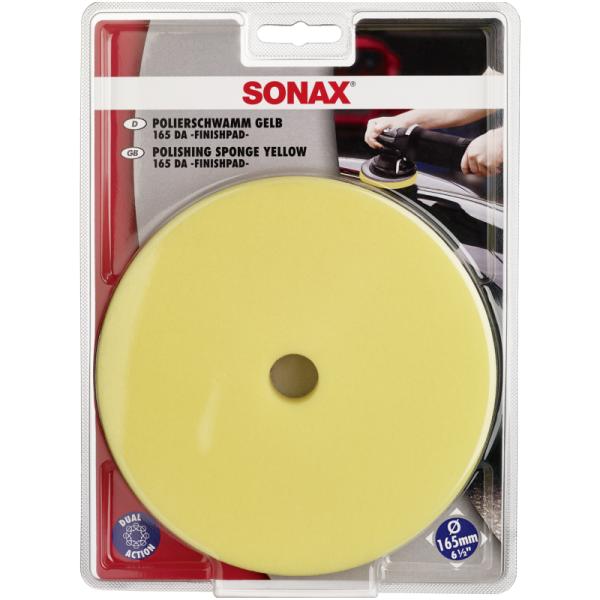 Poliravimo padas geltonas orbitinei mašinėlei 165mm SONAX